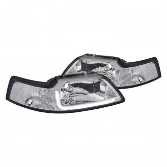 Lumen® - Chrome LED DRL Bar Euro Headlights