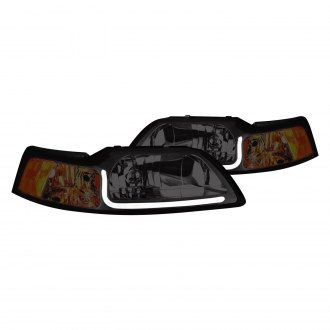 Lumen® - Chrome/Smoke LED DRL Bar Euro Headlights