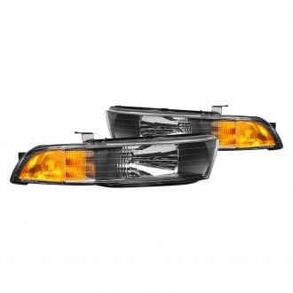lumen® - black factory style headlights with turn signal/corner lights