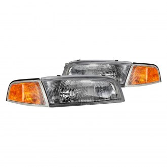Lumen® - Chrome Factory Style Headlights with Turn Signal/Corner Lights