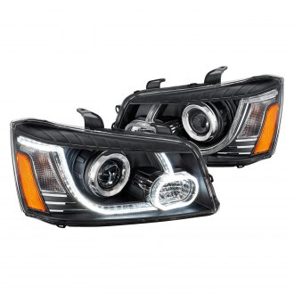Lumen® - Black LED DRL Bar Projector Headlights