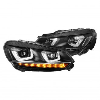 Lumen® - Black DRL Bar Projector Headlights with Sequential LED Turn Signal