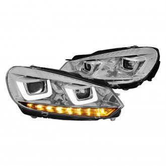 Lumen® - Chrome DRL Bar Projector Headlights with Sequential LED Turn Signal