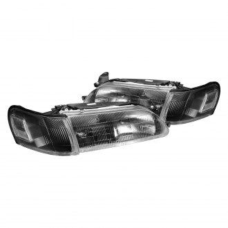 Lumen Black Factory Style Headlights With Turn Signal Corner Lights