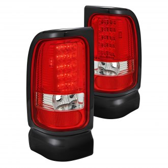 Lumen® - Chrome/Red LED Tail Lights