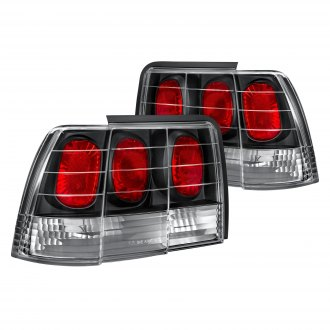Lumen® - Black/Red Euro Tail Lights