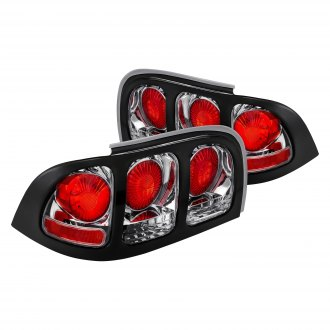 Lumen® - Black/Chrome Red Euro Tail Lights