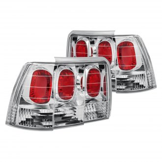 Lumen® - Chrome/Red Euro Tail Lights