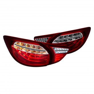 Lumen® - Chrome Red/Smoke Fiber Optic LED Tail Lights