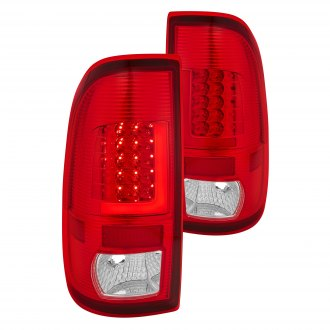 Lumen® - Chrome Red/Clear Fiber Optic LED Tail Lights