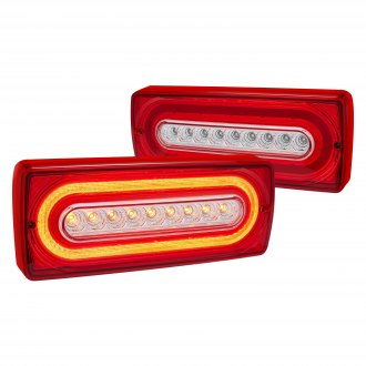 Lumen® - Chrome/Red Fiber Optic LED Tail Lights