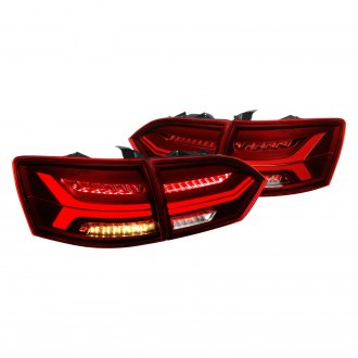 Lumen® - Black/Red Sequential Fiber Optic LED Tail Lights
