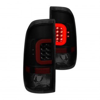 Lumen® - Black/Smoke C-Shape Fiber Optic LED Tail Lights