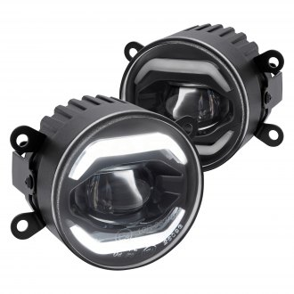 "Lumen® - 3.5"" Round Smoke Projector LED Fog Lights with DRL"