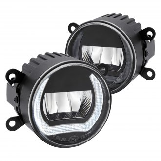 "Lumen® - 3.5"" Round Smoke LED Fog Lights with DRL"