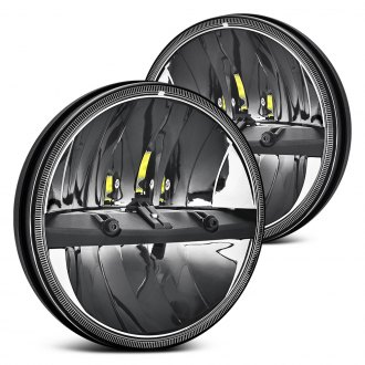 "Lumen® - 7"" Round Chrome LED Headlights"