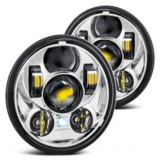 "Lumen® - 5 3/4"" Round Chrome Projector LED Headlights"