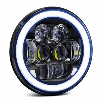 "Lumen® - 5 3/4"" Round Black Halo Projector LED Headlight"