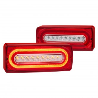 Lumen® - Sequential Chrome/Red Fiber Optic LED Tail Lights