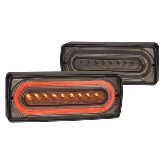 Lumen® - Sequential Black/Smoke Fiber Optic LED Tail Lights