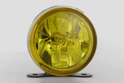 "86-1001210 - Lumen® 3.5"" Round Yellow Fog Lights, Featured 360 View (Full HD)"