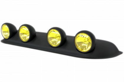 Lumen® Round Yellow Roof Fog Light, Featured 360 View (Full HD)