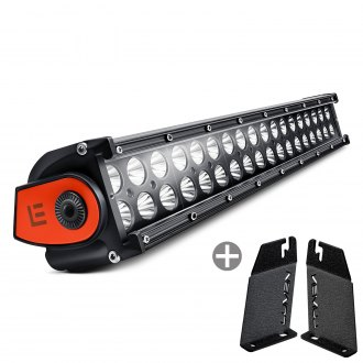 "Lumen® - Hood Mounted 18"" 108W Dual Row LED Light Bar with Illuminated End Caps"