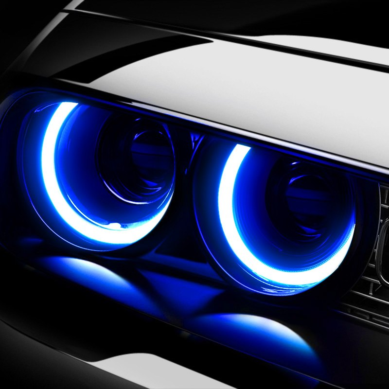 "Lumen® IAW60CB - 2.36"" Plasma Blue Halo Kit for Headlights"
