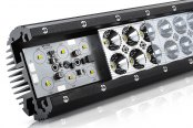 "Lumen® - 9.25"" 54W Dual Row Spot LED Light Bar, Cutaway"