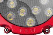 "Lumen® - 6.25"" Round 51W LED Off-Road Driving Light - Schematic View"