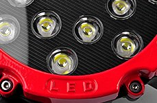 Lumen® - Round Red Housing LED Off-Road Light