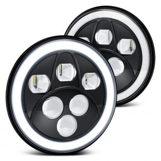 Lumen® - Round Black Sealed Beam Headlights