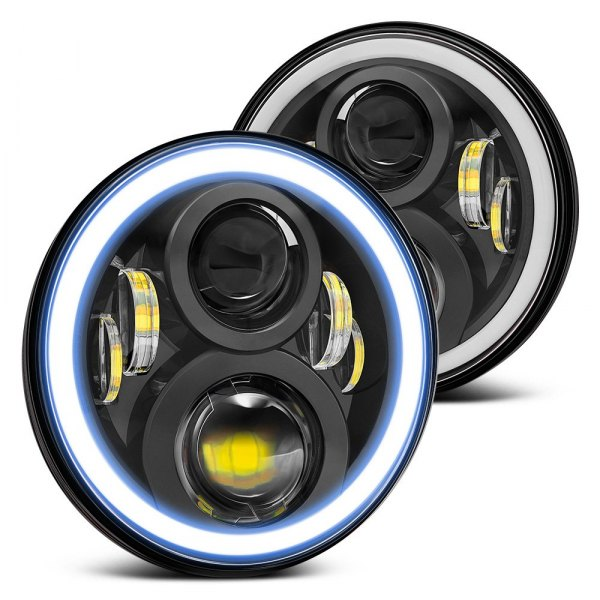 "Lumen® - 5.75"" Round Chrome Full LED Projector Headlights"