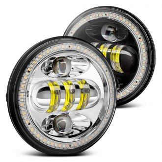 "Lumen® - 5.75"" Round Full LED Projector Headlights with Switchback Halo"