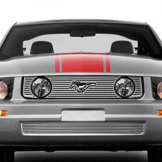 Lund® - 3-Pc Polished Framed Perimeter Bumper Grille