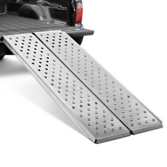 Lund® - Bi-Fold Loading Ramp, In use