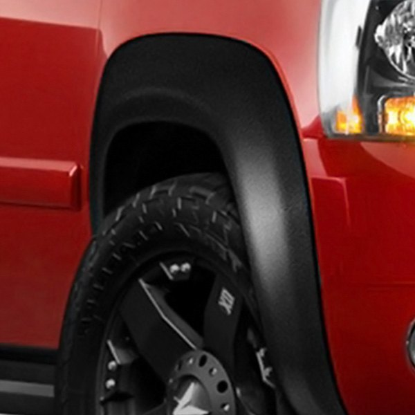 Lund® - Elite Series EX-ExtraWide Style Smooth Black Front and Rear Fender Flares