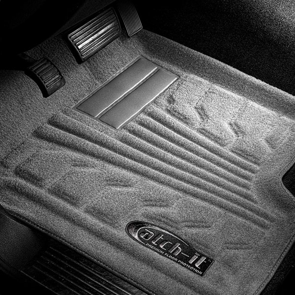 Image may not reflect your exact vehicle! Lund® - Catch-It™ Carpet 1st Row Gray Floor Liners