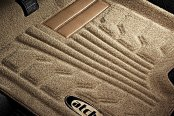 Image may not reflect your exact vehicle! Lund® - Catch-It™ Carpet 1st Row Tan Floor Liners