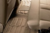 Image may not reflect your exact vehicle! Lund® - Catch-It™ Carpet 2nd Row Tan Floor Liners