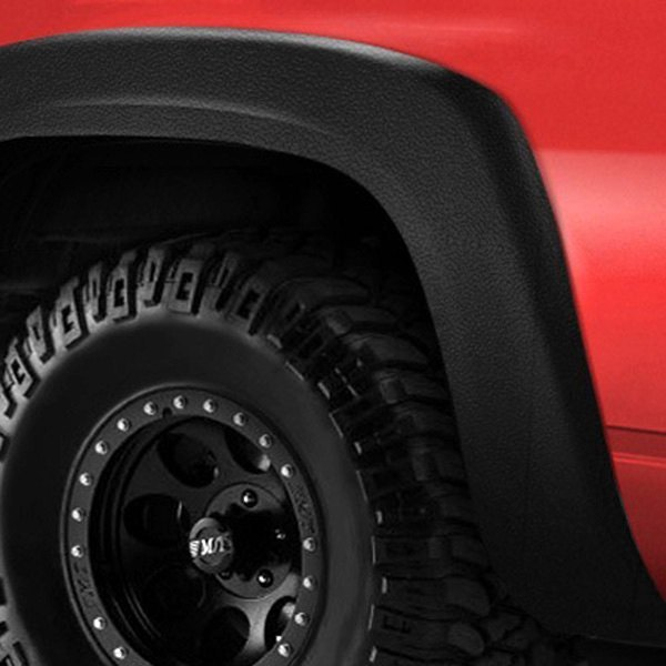 Lund® - Elite Series EX-ExtraWide Style Textured Black Rear Fender Flares
