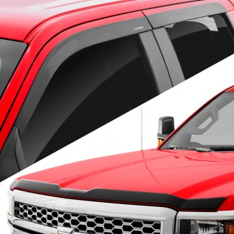 Lund® - Tape-On Low Profile Ventvisors™ and Aeroskin™ Black Protection Kit