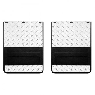 Lund® - 935 Series Rear Dually Molded Rubber Mud Flaps with Diamond Plate