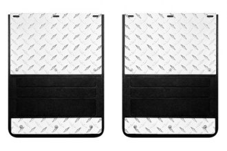 Lund® - Rear Dually Molded Rubber Mud Flaps 935 Series, With Diamond Plate