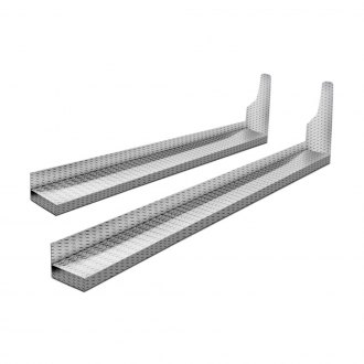 Lund® - Cab Length Challenger Diamond Plate Running Boards