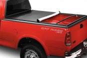 Image may not reflect your exact vehicle! Lund® - Genesis Elite Snap Soft Tonneau Cover, Mid Open