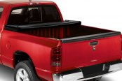 Image may not reflect your exact vehicle! Lund® - Genesis Elite Tri-Fold Tonneau Cover, Open