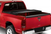 Image may not reflect your exact vehicle! Lund® - Genesis Tri-Fold Tonneau Cover, Mid Open