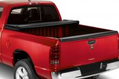 Image may not reflect your exact vehicle! Lund® - Genesis Tri-Fold Tonneau Cover, Open