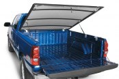 Lund® - Genesis Elite Hinged Tonneau Cover, Mid Open